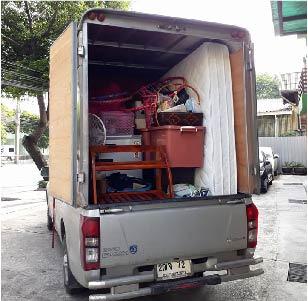 รถรับจ้างขนของย้ายบ้าน หอพัก คอนโด ของใช้